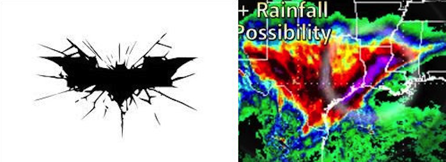 Weather forecast calls for heavy rainfall, 50% chance of Batman