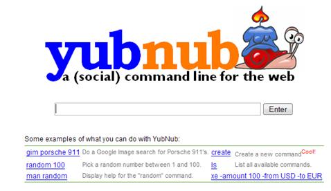 YubNub web search command line