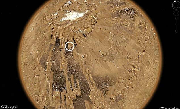 Is this a secret Martian base, revealed by Google maps?