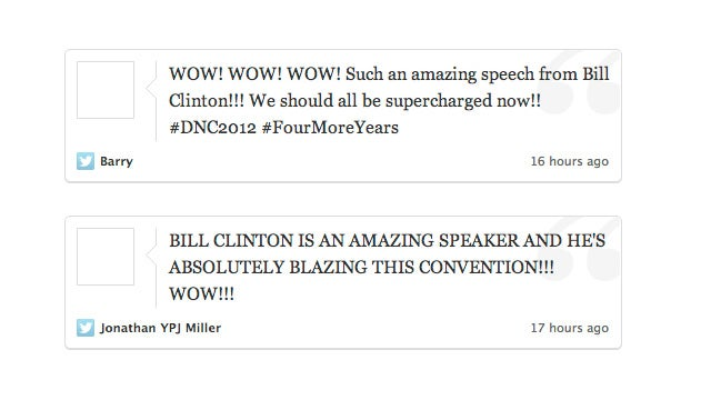 The Stages of Arousal During Bill Clinton's Speech