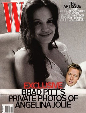 In Which We Attempt to Decipher Brad Pitt's Picture of Angelina Jolie Breastfeeding