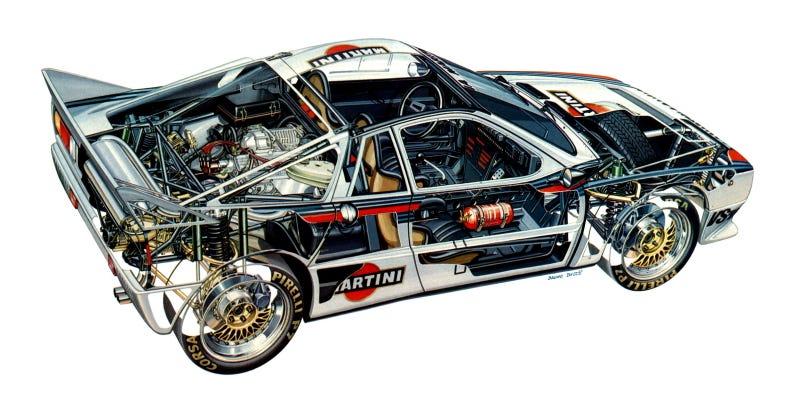 Lancia Cutaway drawing