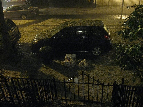 Holy Crap: New York City Visited by Hail Apocalypse