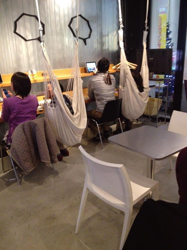 Japan's Hammock Cafes Are Perfect for Lazy People