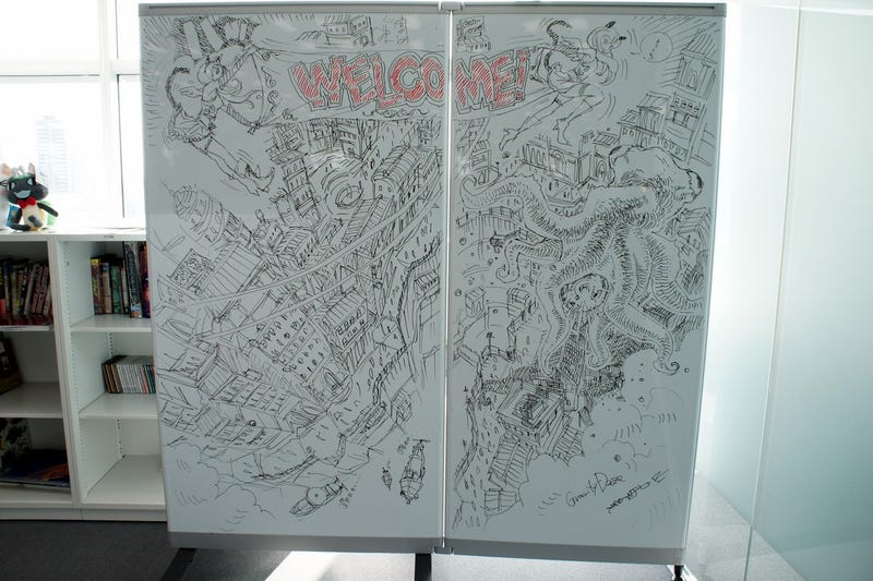 Marvel at Sony's Amazing Gravity Rush Whiteboard Drawings