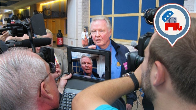 BREAKING: Hollywood's Jon Voight Makes Statement in GOP Convention Lobby