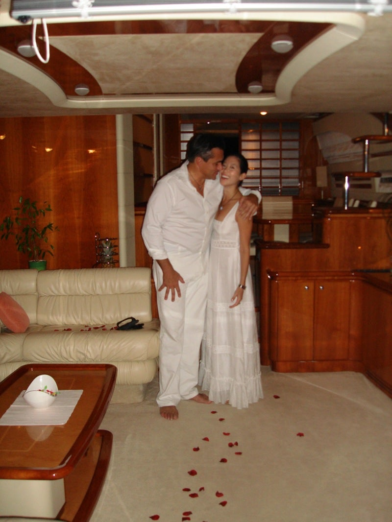 Exclusive: Todd English and Erica Wang's Fake Wedding Album