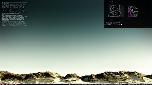 The Coastal Dune Desktop