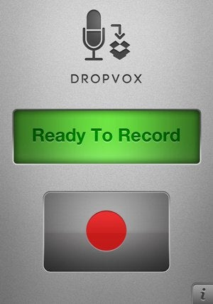DropVox Records Voice Memos Directly to Dropbox