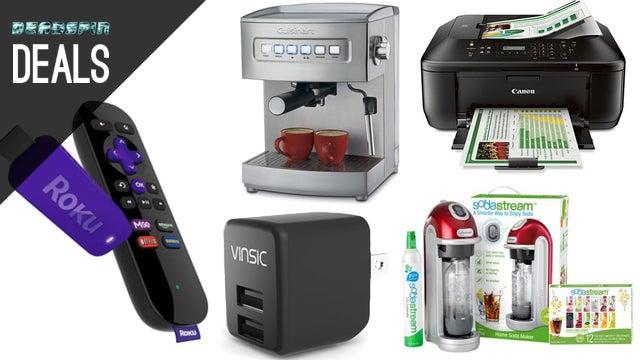 Deals: Huge SodaStream Savings, DIY Espresso, Wireless Printing, Roku