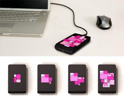 External HD Concept Helps You Visualize Your Data Usage
