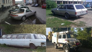 West German cars living and dying in Poland