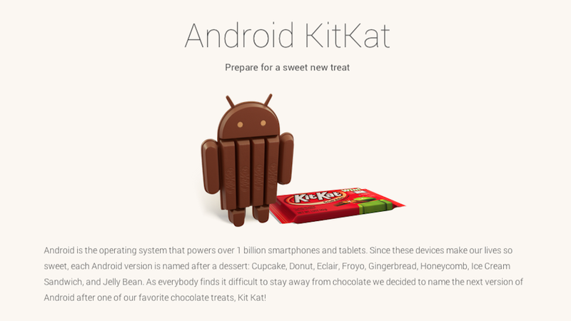 The Next Android Version Is Called... Kit Kat. Good God.