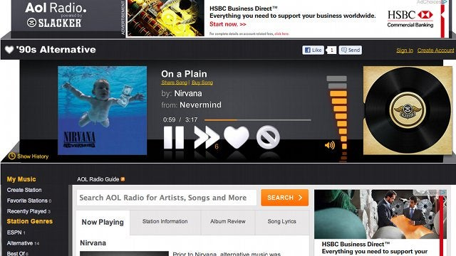 AOL Radio Gets an Awesome New Interface and Slacker-Curated Stations
