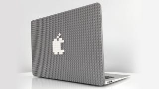 A studded case lets you customize and personalize your MacBook with Lego