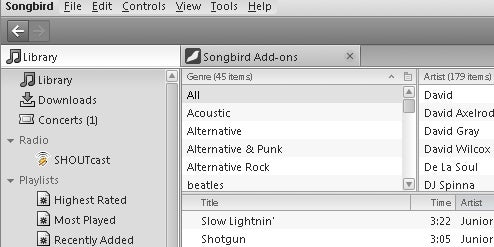 Songbird Hits Beta with Better Interface, Smart Playlists
