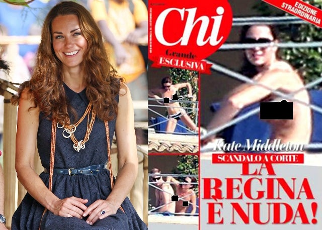 'The Queen is Naked': Italian Magazine Flouts Impending Lawsuit, Publishes More Topless Photos of Kate Middleton [NSFW]