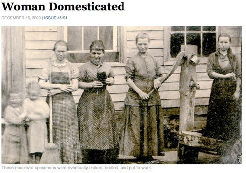 Domesticating Women: Funny, Too Close For Comfort