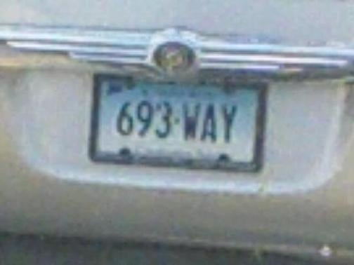 License Plate Of The Day: Odd Numbers Edition