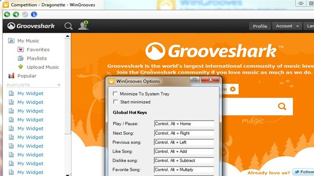 WinGrooves Is a Desktop GrooveShark Player for Windows with Extra Features