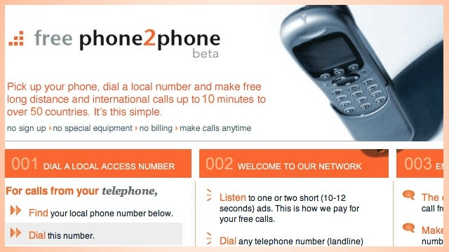 FreePhone2Phone Makes Free 10-Minute International Calls After an Audio Ad or Two