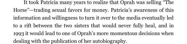 Excerpts From the Biography Oprah Doesn't Want You to Read, Part 2