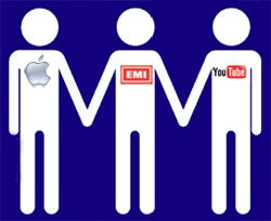 EMI, Apple and YouTube Officially In Love Triangle; Warner Music Attempts Solo Project