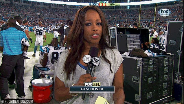 He Knows Better Than To Walk Into Pam Oliver's Shot