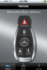 New mercedes iphone app hands on for Mercedes benz app for iphone