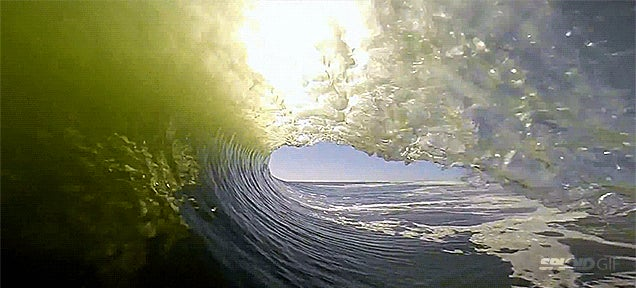 Surfing a never ending wave is like being stuck in a blender of fun