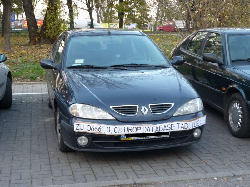 SQL Injection License Plate Hopes to Foil Euro Traffic Cameras