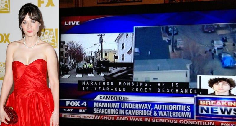 TV Captioner Regrets Naming Zooey Deschanel a Boston Bombing Suspect