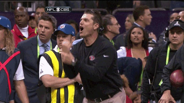 Jim Harbaugh Wanted A Holding Call On The 49ers' Last Play, And He May Have Had A Point