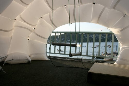 I Want to Curl Up and Hide in the Tent Made From Airbags