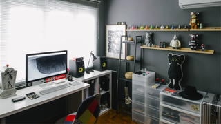 Gray, White, and Vinyl: The Designer Toy Workspace