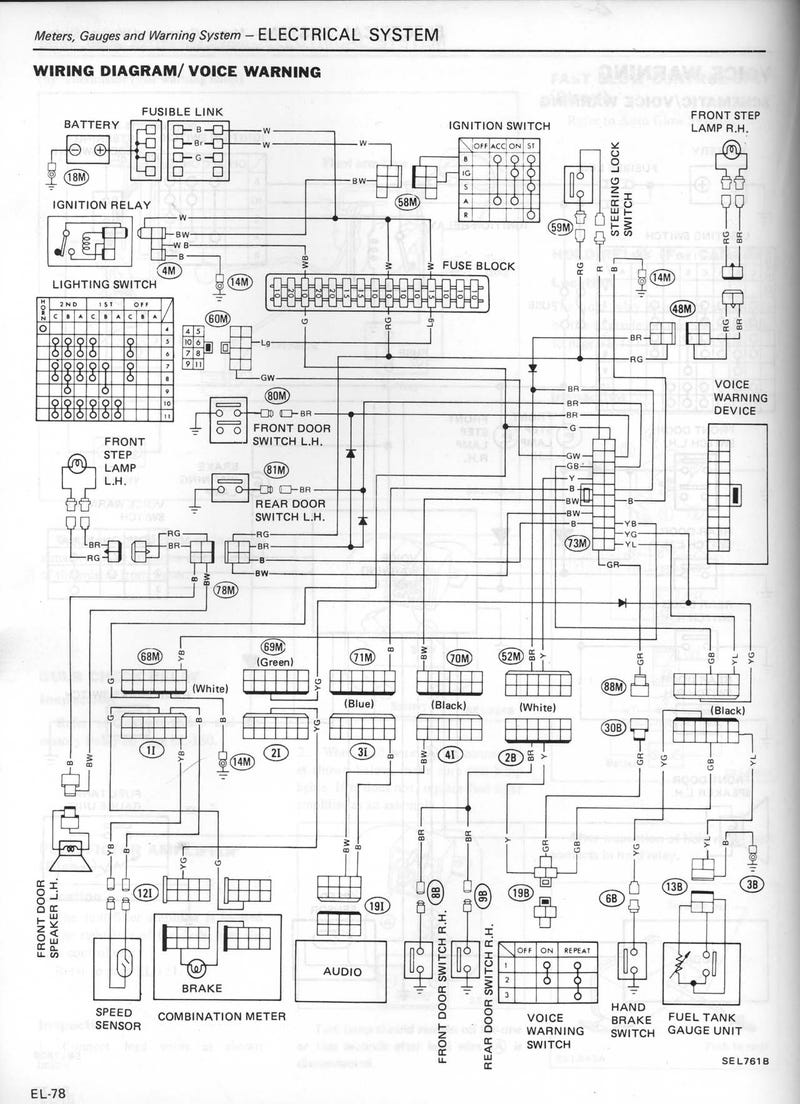 1982 Datsun Voice Warning Box Used Tiny Phonograph Record, Just Like Moon Base Robots