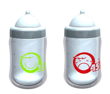 Baby Bottle Lets You Know When the Formula's Just Right