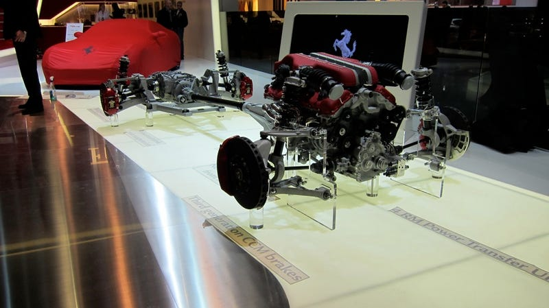I am the Ferrari FF's powertrain and suspension