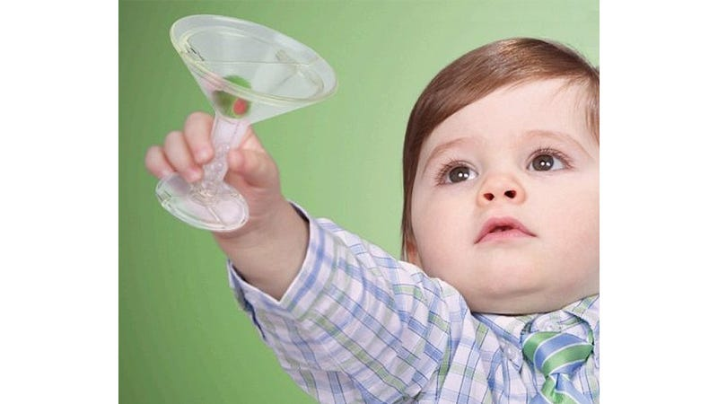 Let Your Child Relax With a Martini Glass Rattle After a Tough Playdate