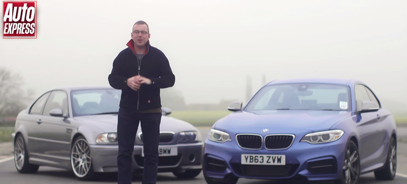 Watch The Legendary BMW M3 CSL Battle The 2015 M235i