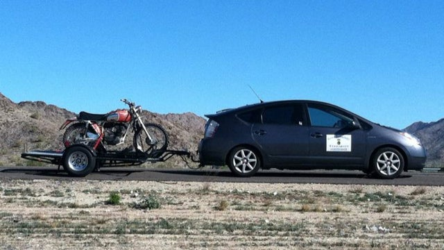 Meet The Entrepreneur Who Hauls Motorcycles With A Prius