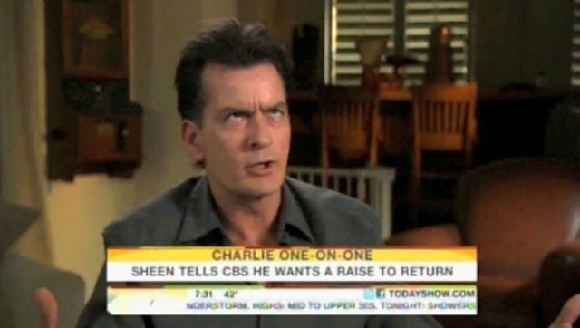 Charlie Sheen's Manic Monday Interviews