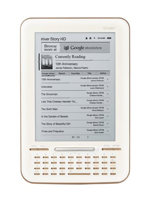 The iriver Story HD Integrates Google eBooks and Over-The-Air Book Downloads