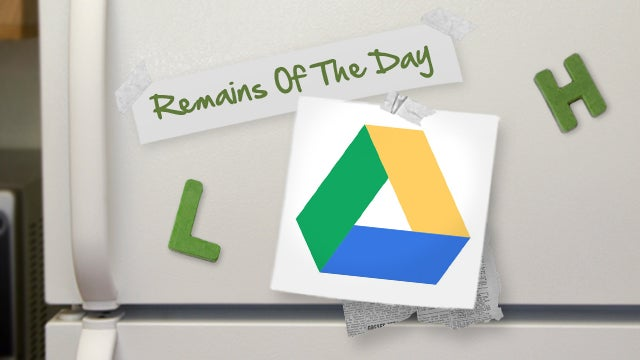 Remains of the Day: You Can Now Automate Google Drive with IFTTT