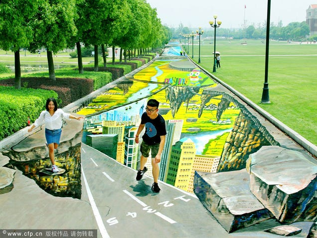 This is the largest and longest 3D street painting in the world