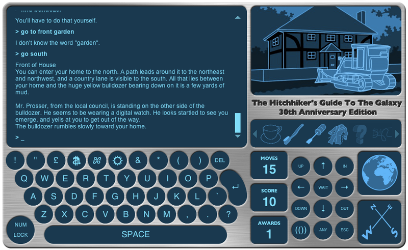 Play 1984's Hitchhiker's Guide to the Galaxy text game for free online