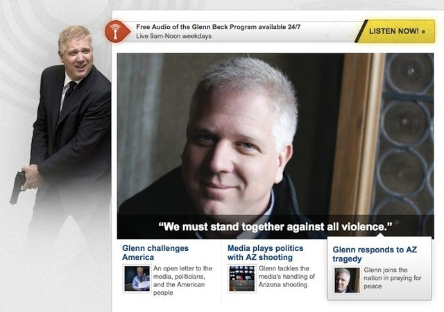 Glenn Beck Will Shoot You In the Face If You Do Not Renounce Violence