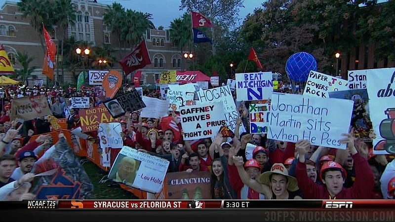 Jonathan Martin Is A Pussy: Your Stanford-USC GameDay Sign Roundup