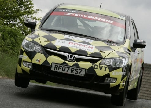 Honda Civic Hybrid Goes Rally Racing