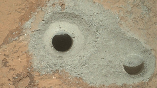 Mars Rover Curiosity Has Successfully Drilled for the First Ever Sample of Mars' Virgin Bedrock